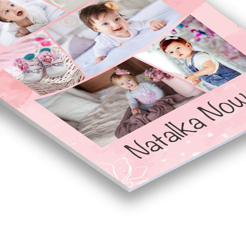PCV personalizowany ze zdjęciami na roczek pierwsze urodziny tort dla dziewczynki
