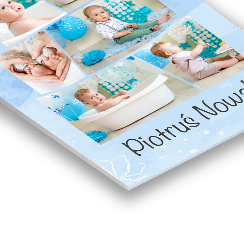 PCV personalizowany ze zdjęciami na roczek pierwsze urodziny tort dla chłopca