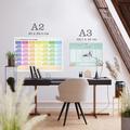 Plan lekcji personalizowany samoprzylepny suchościeralny A3 dla dziecka kolorowe kredki
