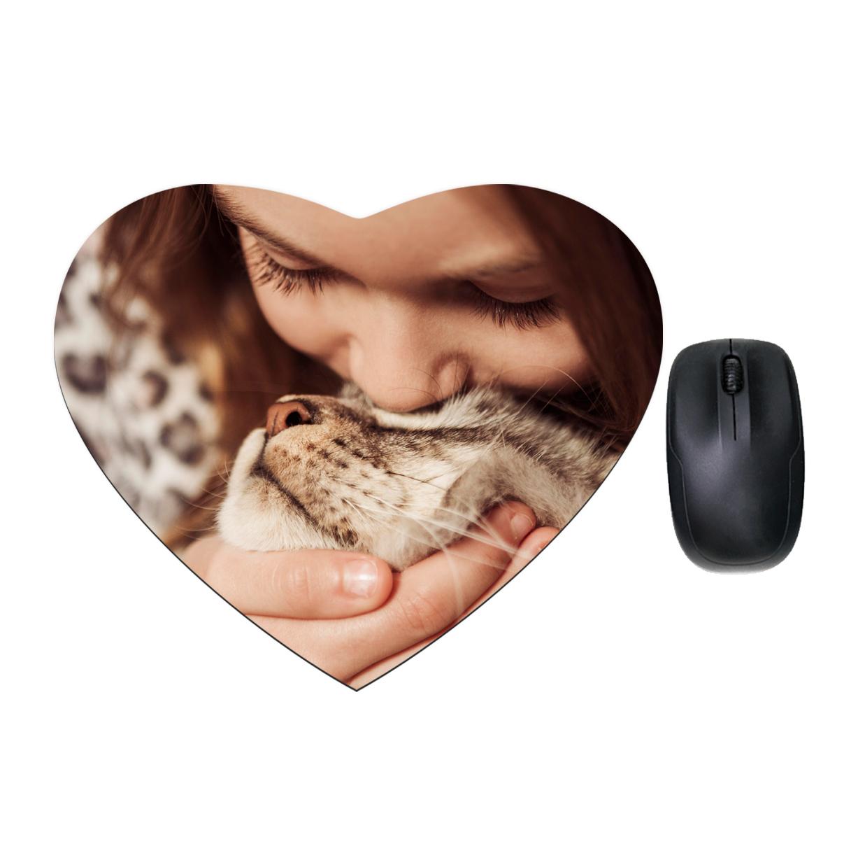 Podkładka pod mysz w serce personalizowana foto z własnym zdjęciem