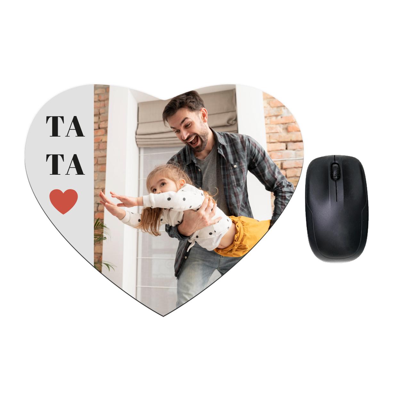 Serce fotopodkładka kolaż na Dzień Ojca dla taty