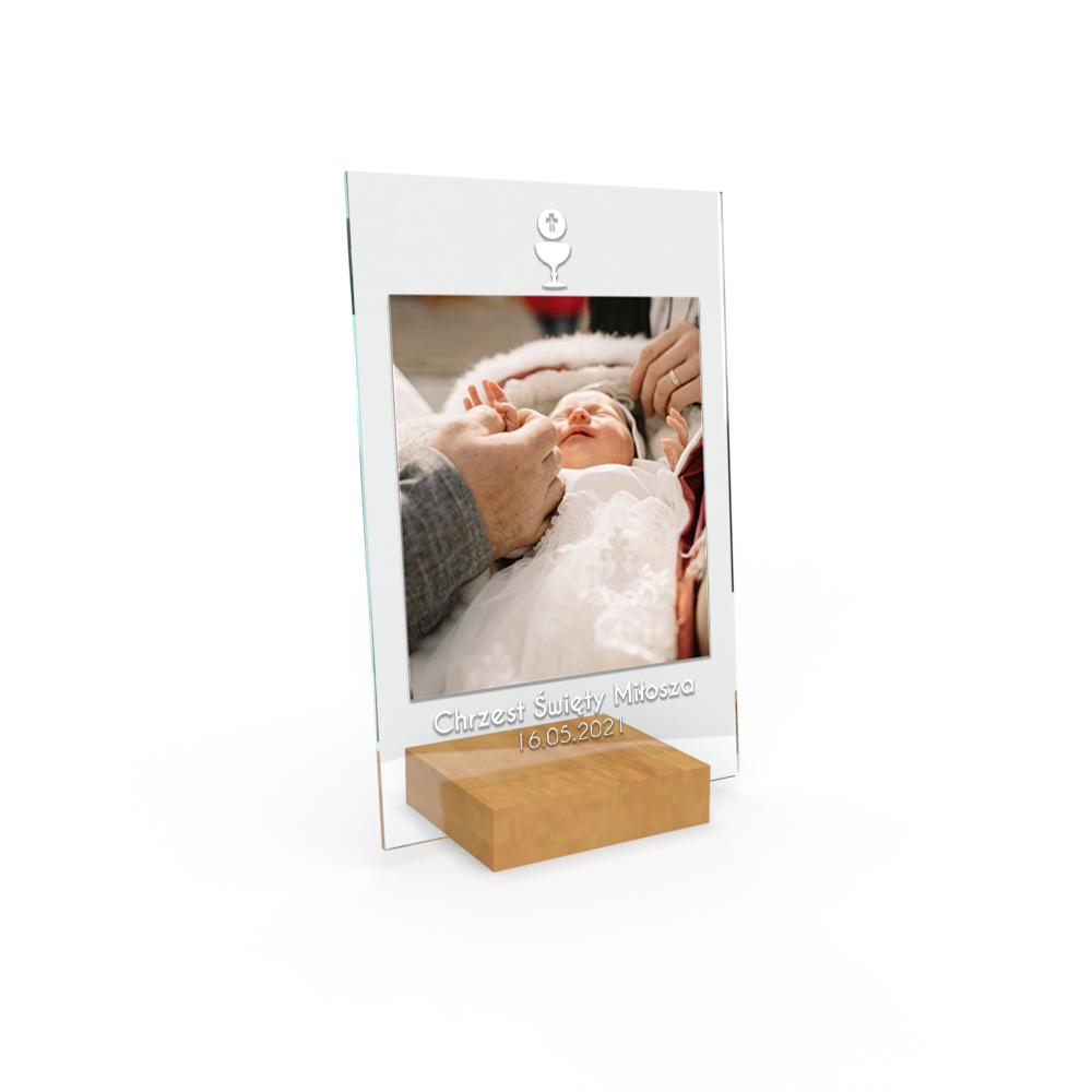 Personalizowane plexi ze zdjęciem 15x10 na chrzest