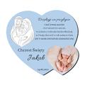 foto Magnes personalizowany pamiątka podziękowania na chrzest święty dla chłopca