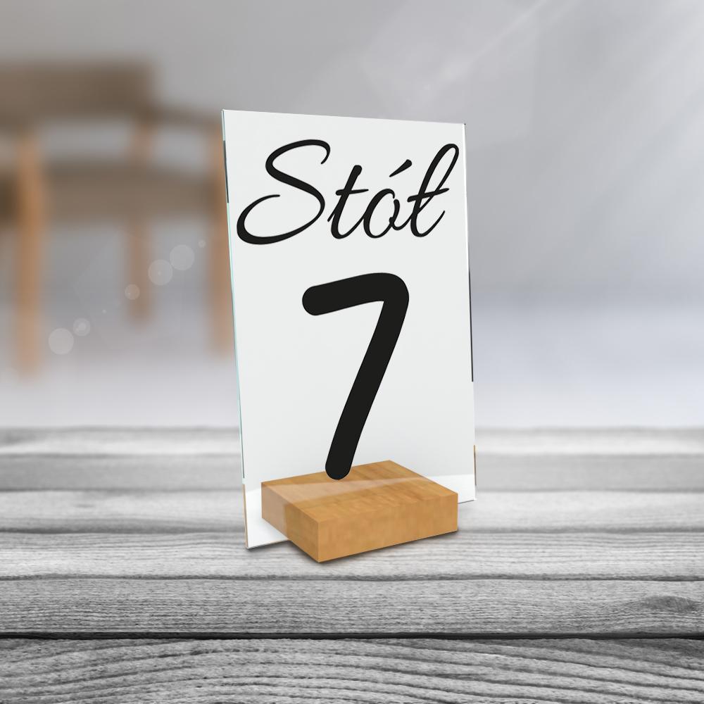 Personalizowane plexi ze zdjęciem 15x10 numeracja na stół weselny numeracja minimalistyczna