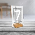 Personalizowane plexi ze zdjęciem 15x10 numeracja na stół weselny numeracja akwarele