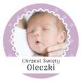 Magnes ze zdjęciem na chrzest roczek komunię dla dziewczynki