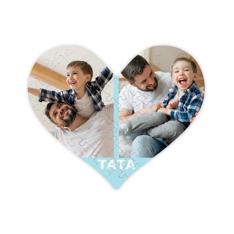 fotoPuzzle ze zdjęcia serce dla taty