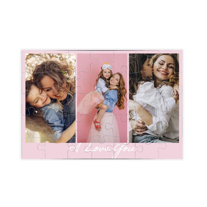 fotoPuzzle ze zdjęcia 35 elementów kolaż róż i love you