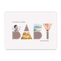 Plakat personalizowany kolaż dla dziecka na urodziny, roczek, chrzest A3 BABY