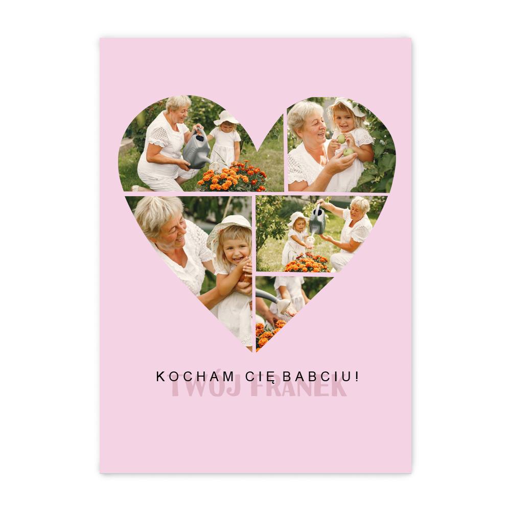 Fotoplakat z twoim zdjęciem do ramki ikea 30x40 kolaż dla babci