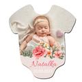 foto Magnes personalizowany pamiątka na chrzest roczek urodziny pastelowy kwiatowy