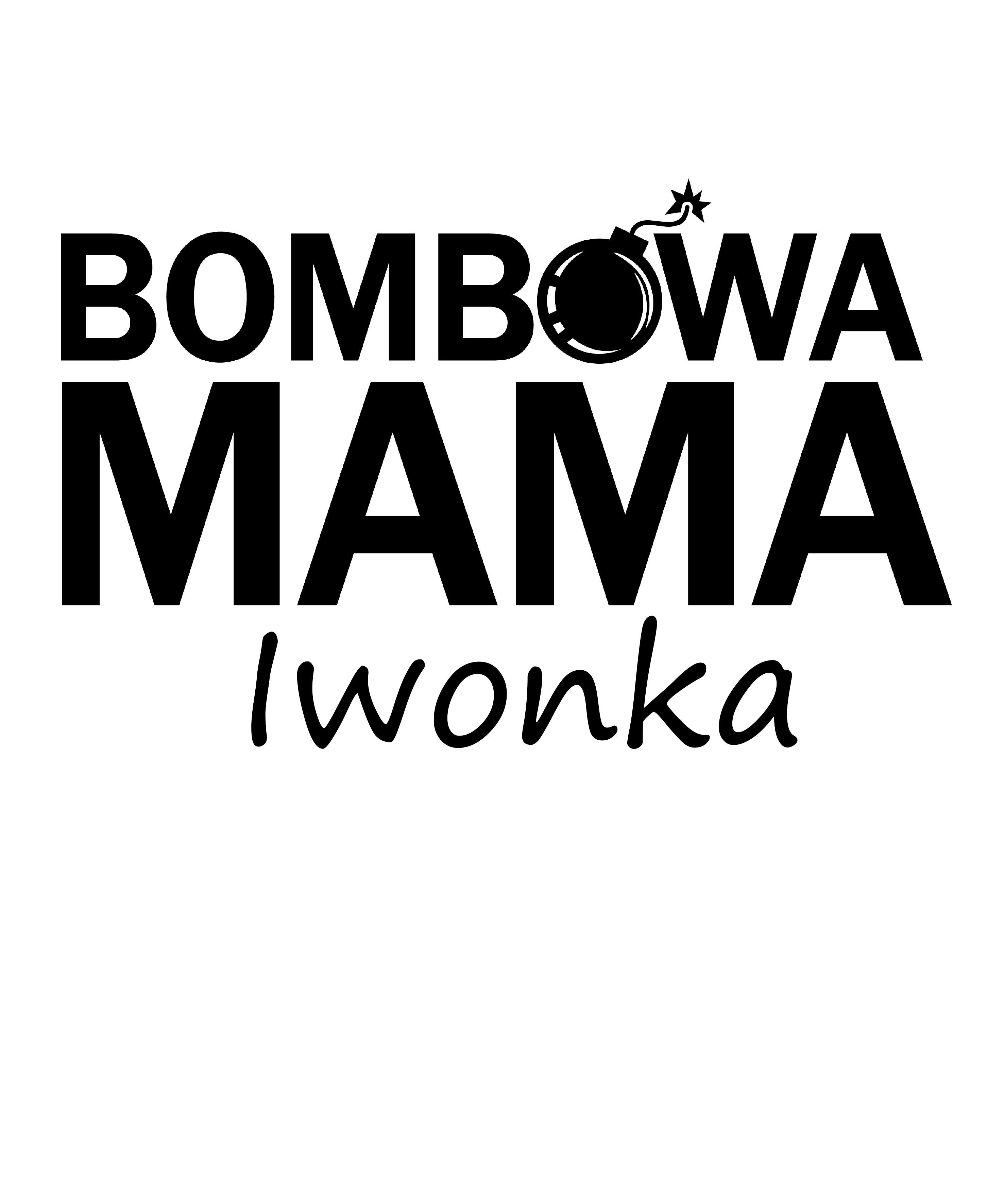 Rozmiar XL - koszulka damska z własnym nadrukiem - Bombowa mama - biała