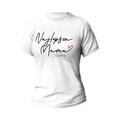 Rozmiar L - koszulka damska z własnym nadrukiem - Najlepsza mama - biała