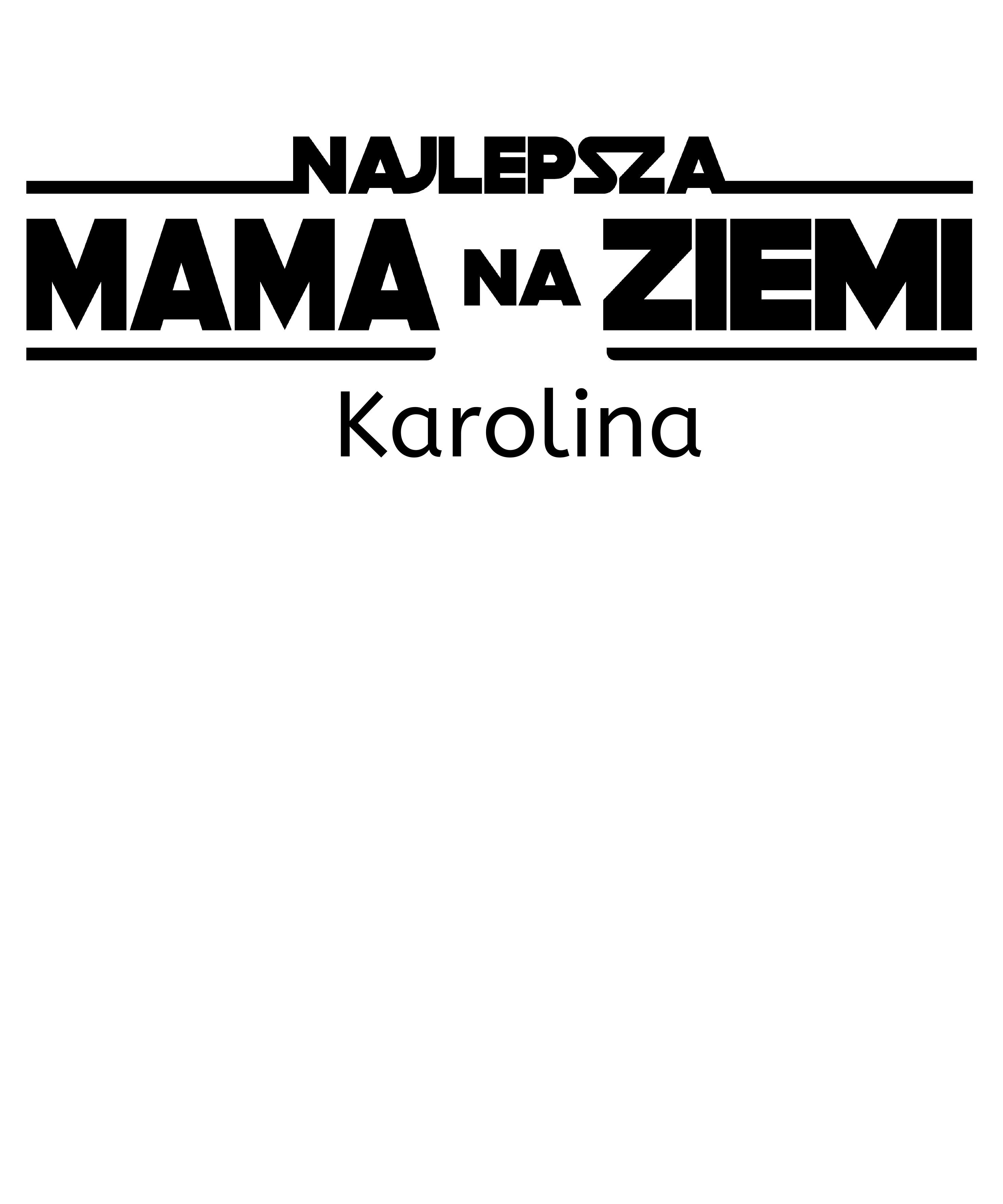 Rozmiar XL - koszulka damska z własnym nadrukiem - Najlepsza mama na ziemi
