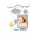 Plakat metryczka ze zdjęciem dziecka A3 personalizowana dziecko na chmurce