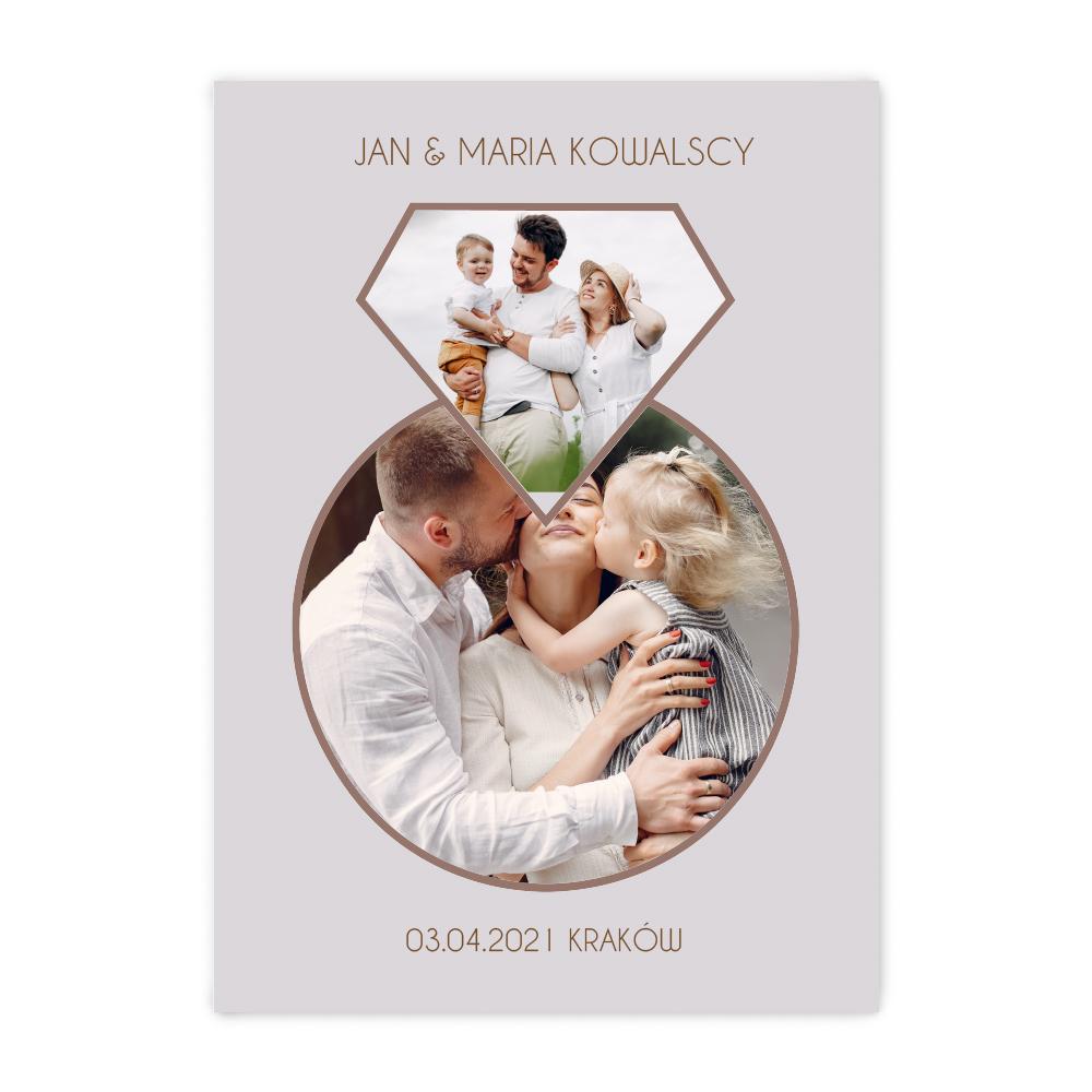 Plakat personalizowany ze zdjęciem zaręczynowy dla par B2