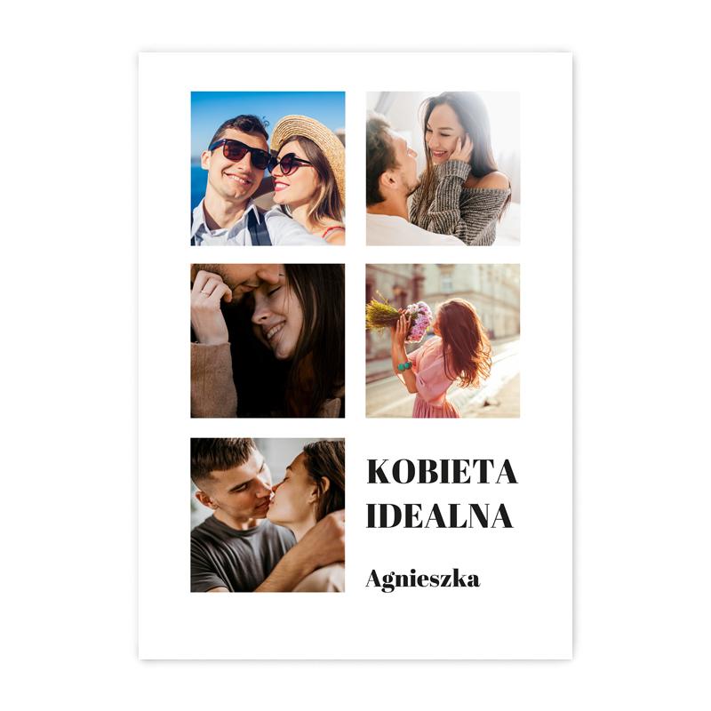 foto Plakat ze zdjęciem personalizowany kolaż dla kobiety A2