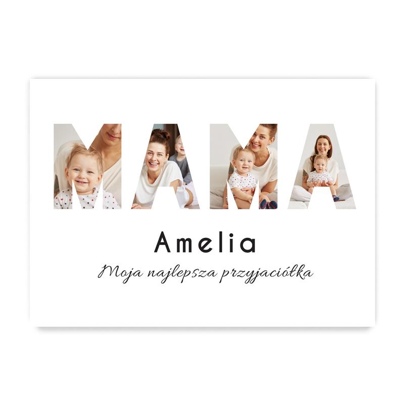 Plakat personalizowany ze zdjęciami na prezent dla mamy na dzień mamy A2