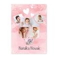 Plakat ze zdjęć do ramki ikea 40x50 na chrzest dla dziewczynki