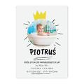 Plakat z własnych zdjęć do ramki ikea 40x50 dla dziecka metryczka król życia