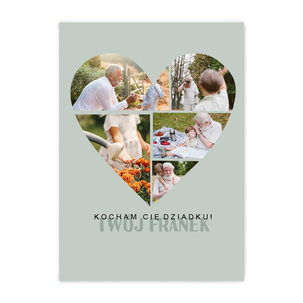 Plakat z własnych zdjęć do ramki ikea 40x50 kolaż dla dziadka