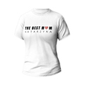 Rozmiar XXL - koszulka damska z własnym nadrukiem - The Best Mom - biała