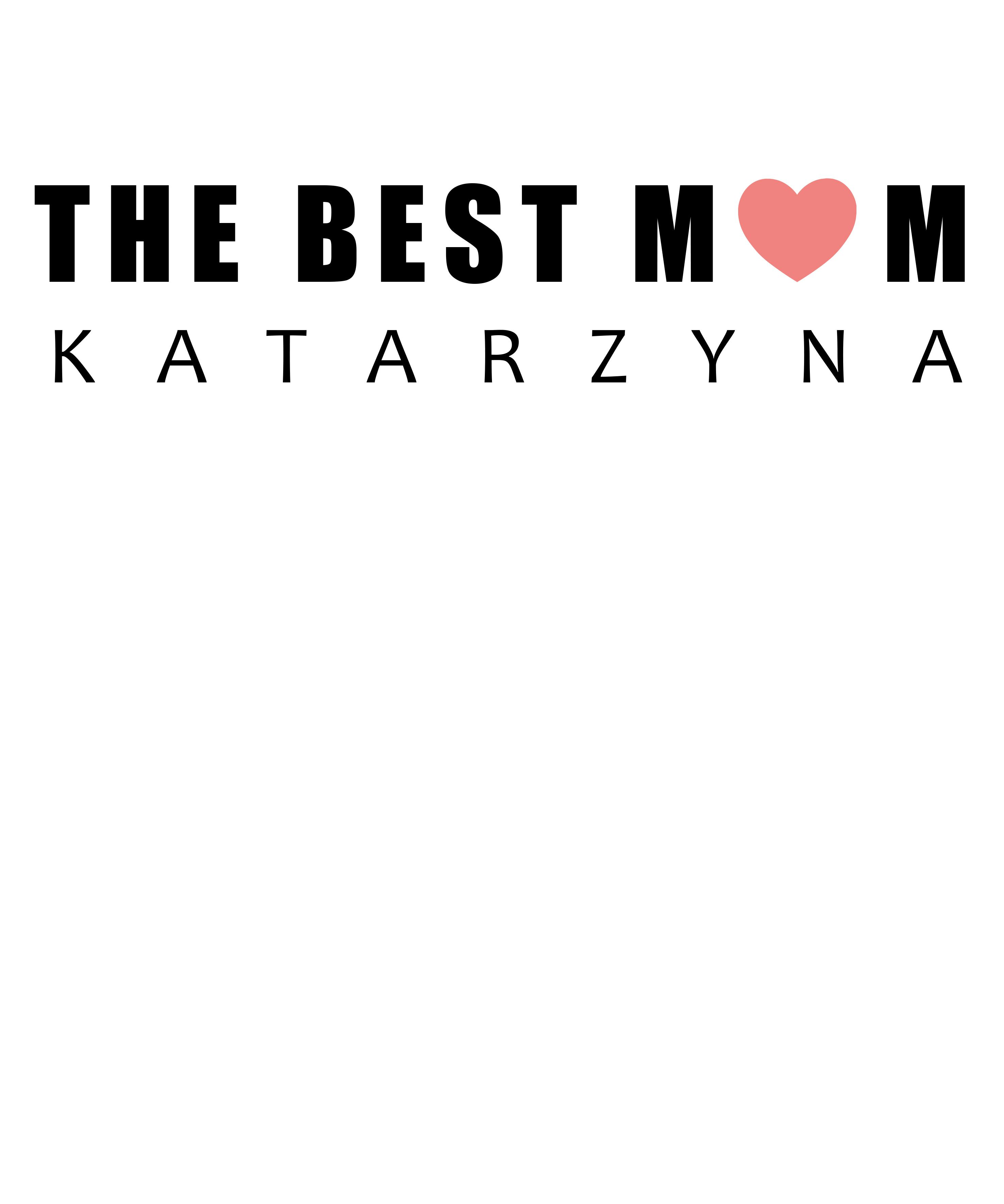 Rozmiar XL - koszulka damska z własnym nadrukiem - The Best Mom - biała