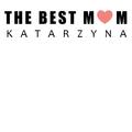Rozmiar S - koszulka damska z własnym nadrukiem - The Best Mom - biała