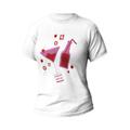 Rozmiar L - koszulka damska z własnym nadrukiem - dla przyjaciółki Summer - biała