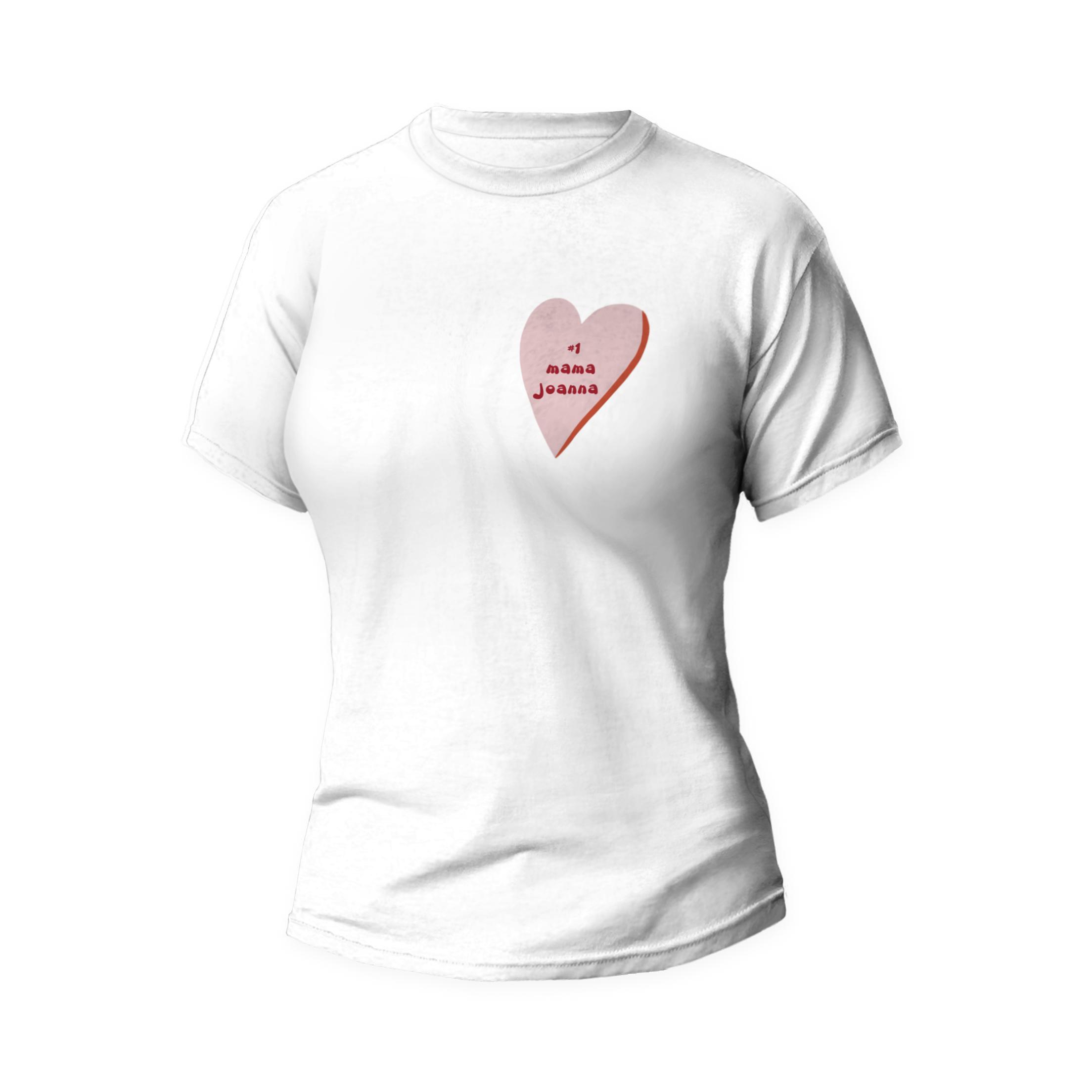 Rozmiar L - koszulka damska z własnym nadrukiem - Mama numer 1