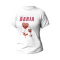 Rozmiar M - koszulka damska z własnym nadrukiem - Dla najlepszej mamy - biała