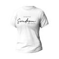 Rozmiar L - koszulka damska z własnym nadrukiem - Świadkowa idealna - biała