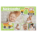 fotoPuzzle ze zdjęcia dla dziecka 96 elementów kolaż dla chłopca koparka