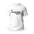 Rozmiar L - koszulka męska z własnym nadrukiem - Świadek idealny - biała