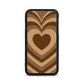 Etui case na telefon iPhone z grafiką - serca brązowe