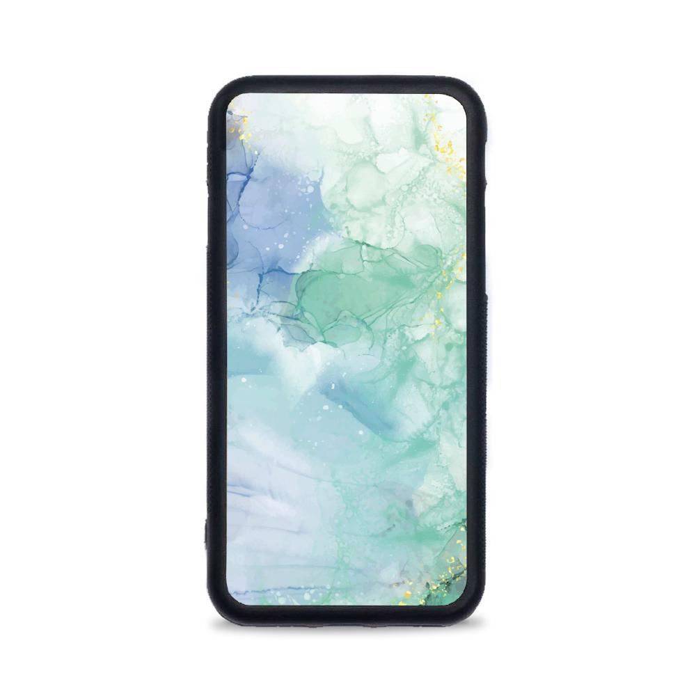 Etui case na telefon iPhone z grafiką - zielony marmur