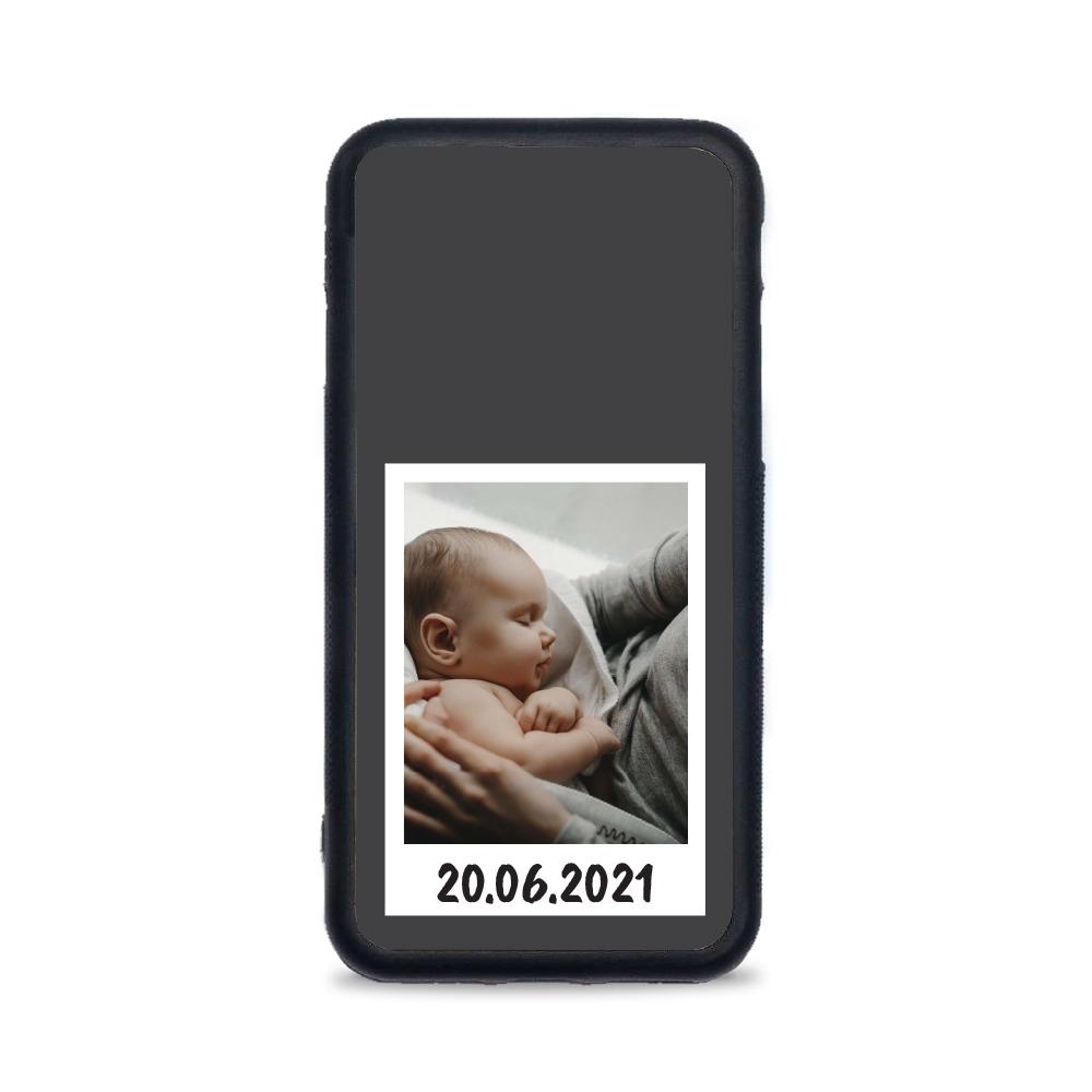 Etui case na telefon iPhone z grafiką - na zdjęcie z Polaroida
