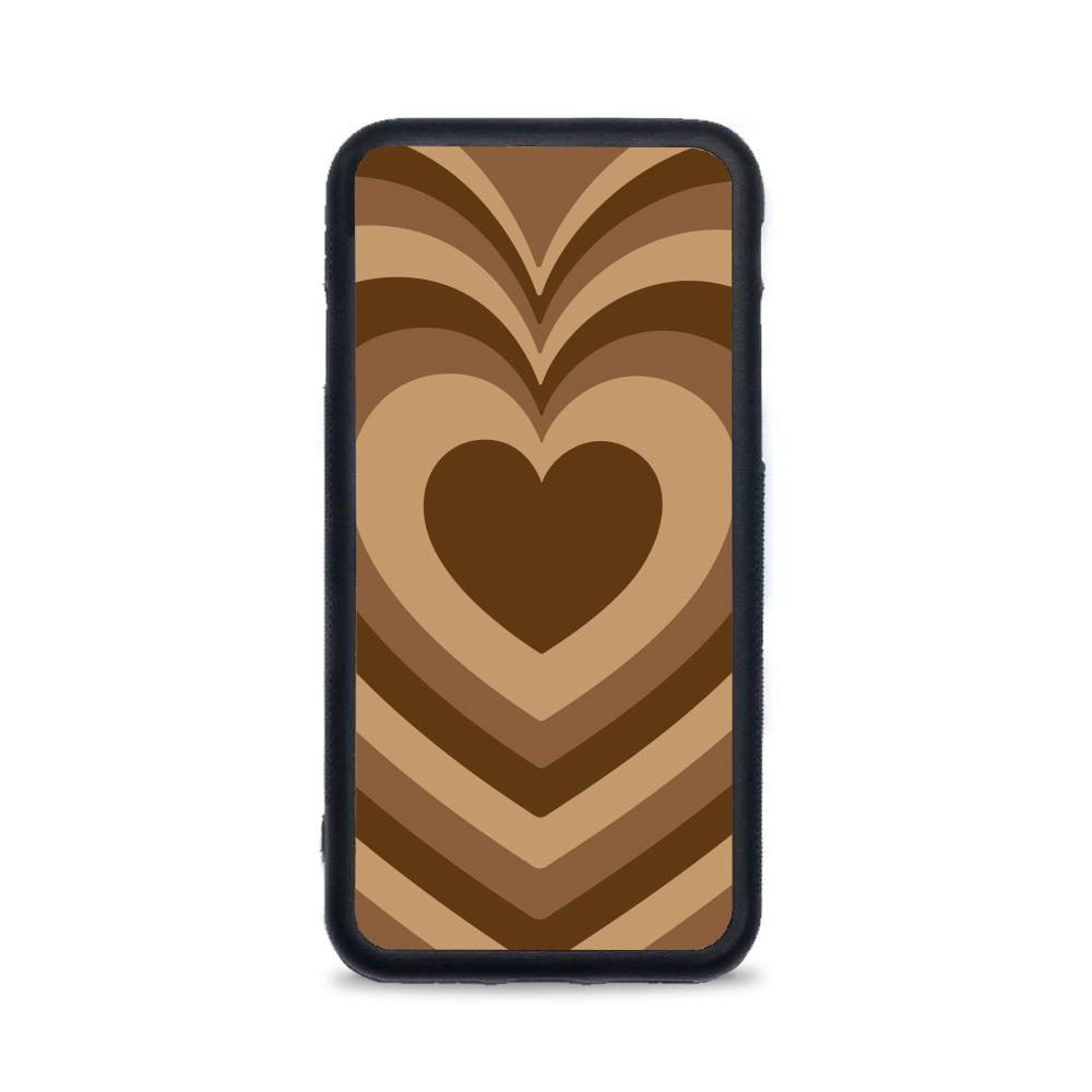 Etui case na telefon Huawei z grafiką - serca brązowe