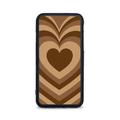 Etui case na telefon Xiaomi z grafiką - serca brązowe