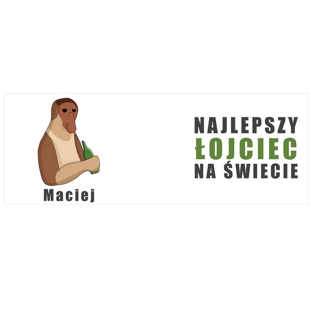 Kubek na Dzień Ojca dla Taty memiczny Janusz najlepszy łojciec na świecie