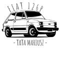 Rozmiar XL - koszulka męska z własnym nadrukiem dla taty - Fiat 126P Maluch - biała