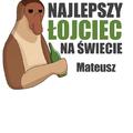 Rozmiar XXL - koszulka męska z własnym nadrukiem dla taty - Nosacz Janusz - biała