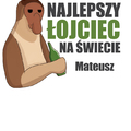 Rozmiar M - koszulka męska z własnym nadrukiem dla taty - Nosacz Janusz - biała