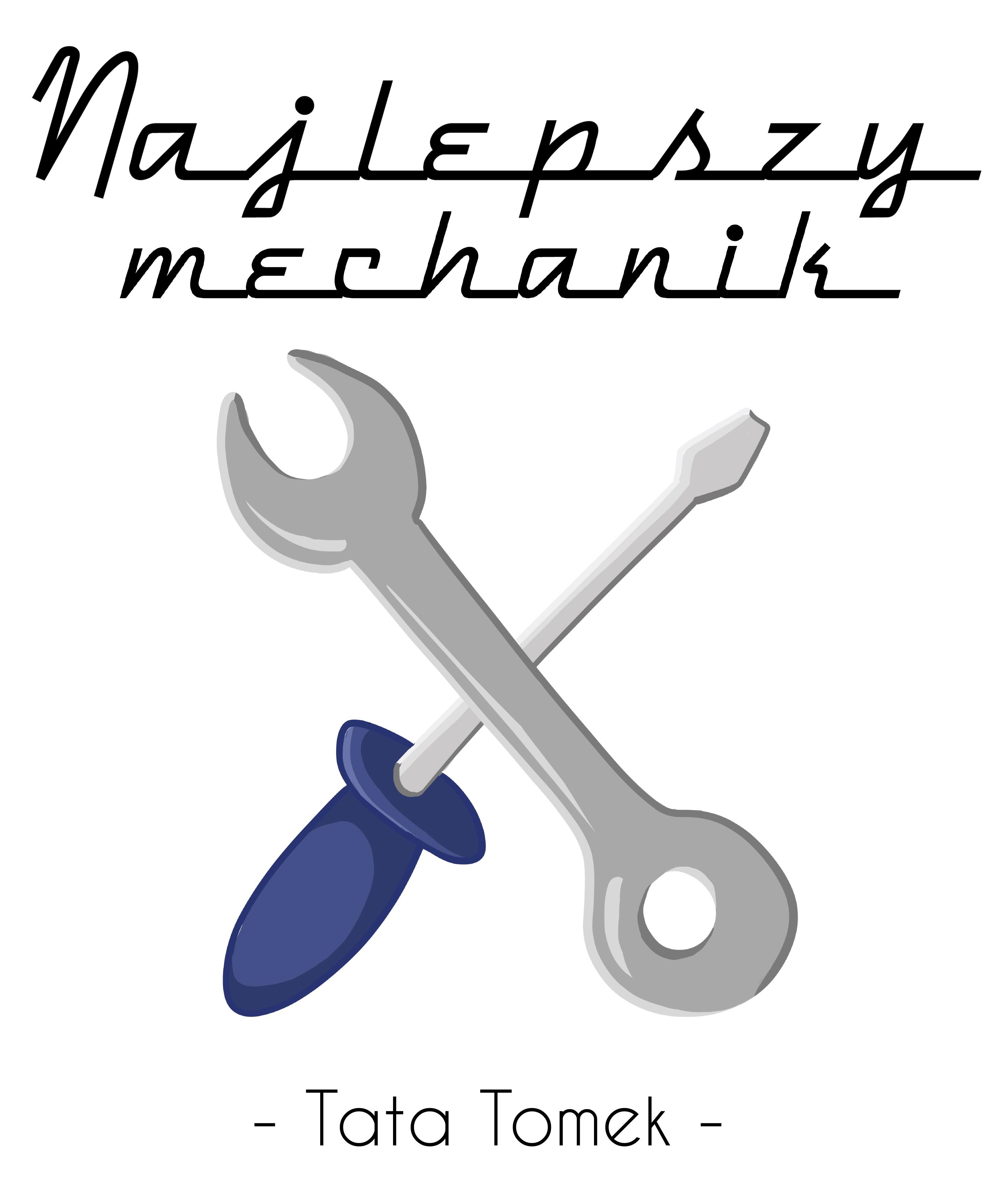 Rozmiar XXL - koszulka męska z własnym nadrukiem dla taty - Najlepszy mechanik - biała