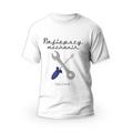 Rozmiar S - koszulka męska z własnym nadrukiem dla taty - Najlepszy mechanik - biała