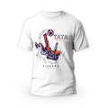 Rozmiar S - koszulka męska z własnym nadrukiem dla taty - Piłkarz nie z tej ziemi - biała