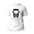 Rozmiar XL - koszulka męska z własnym nadrukiem dla taty - kierowca tira - biała