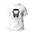 Rozmiar L - koszulka męska z własnym nadrukiem dla taty - kierowca tira - biała