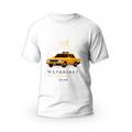 Rozmiar M - koszulka męska z własnym nadrukiem dla taty - Taksówkarz - biała