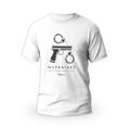 Rozmiar M - koszulka męska z własnym nadrukiem dla taty - Policjant - biała